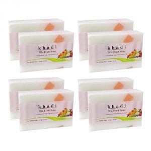 Khadi Herbal Mix Fruit Soap - 125g (set Of 8)