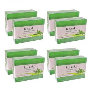 Khadi Herbal Neem Tulsi Soap - 125g (set Of 8)