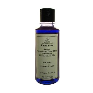 Khadi Pure Herbal Lavender & Ylang Ylang Body Wash Sls-paraben Free - 210ml