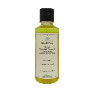 Khadi Pure Herbal Sandal & Turmeric Body Wash Sls-paraben Free - 210ml