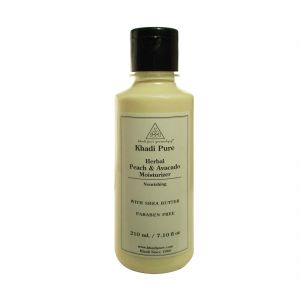 Khadi Pure Herbal Peach & Avacado Moisturizer With Sheabutter Paraben Free - 210ml