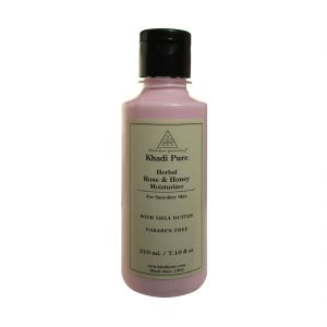 Khadi Pure Herbal Rose & Honey Moisturizer With Sheabutter Paraben Free - 210ml