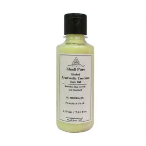 Diesel,Khadi,Nike,Kent,Ag Personal Care & Beauty - Khadi Pure Herbal Ayurvedic Coconut Hair Oil - 210ml