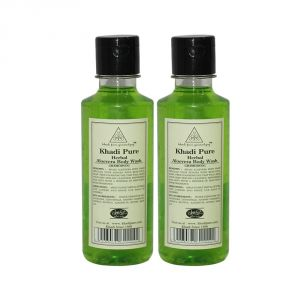 Khadi Pure Herbal Aloevera Body Wash - 210ml (set Of 2)