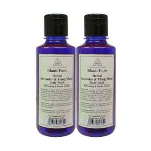 Khadi Pure Herbal Lavender & Ylang Ylang Body Wash - 210ml (set Of 2)