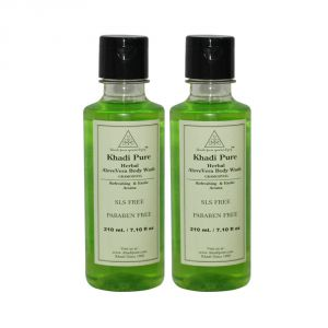 Khadi Pure Herbal Aloevera Body Wash Sls-paraben Free - 210ml (set Of 2)