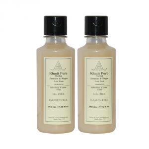 Khadi Pure Herbal Jasmine & Mogra Body Wash Sls-paraben Free - 210ml (set Of 2)