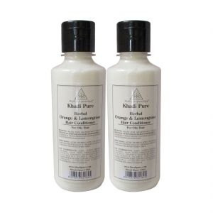 Khadi Pure Herbal Orange & Lemongrass Hair Conditioner - 210ml (set Of 2)