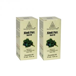 Khadi Pure Herbal Basil Essential Oil - 15ml (set Of 2)