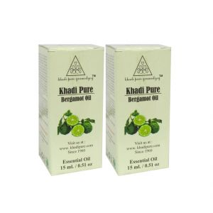 Khadi Skin Care - Khadi Pure Herbal Bergamot Essential Oil - 15ml (Set of 2)