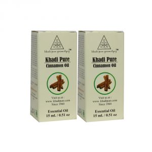 Globus,Garnier,Vaseline,Khadi,Neutrogena,Gucci Face Care - Khadi Pure Herbal Cinnamon Essential Oil - 15ml (Set of 2)