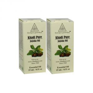 Khadi Pure Herbal Jojoba Essential Oil - 15ml (set Of 2)