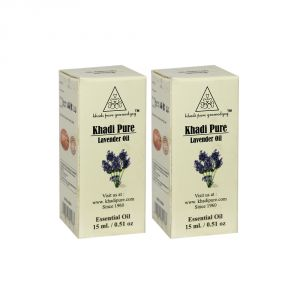 Khadi Pure Herbal Lavender Essential Oil - 15ml (set Of 2)