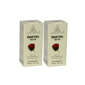 Khadi Pure Herbal Rose Essential Oil - 15ml (set Of 2)