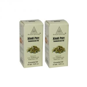 Khadi Pure Herbal Sandalwood Essential Oil - 15ml (set Of 2)