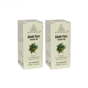 Khadi Pure Herbal Teatree Essential Oil - 15ml (set Of 2)