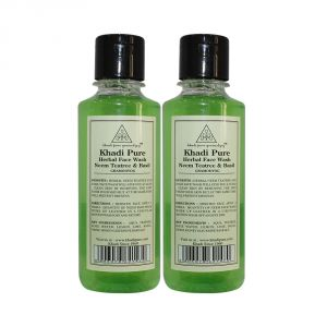 Khadi Pure Herbal Neem, Teatree & Basil Face Wash - 210ml (set Of 2)