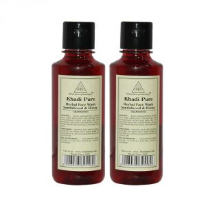 Khadi Pure Herbal Sandalwood & Honey Face Wash - 210ml (set Of 2)
