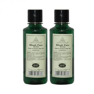 Khadi Pure Herbal Amla & Brahmi Hair Oil - 210ml (set Of 2)