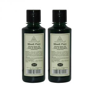 Khadi Pure Herbal Amla & Bhringraj Hair Oil - 210ml (set Of 2)