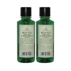 Khadi Pure Herbal Ayurvedic 21 Herbs Hair Oil - 210ml (set Of 2)