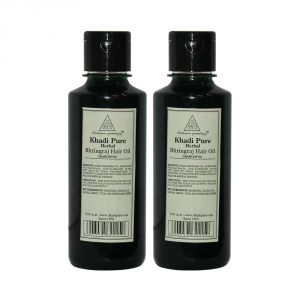 Khadi Pure Herbal Bhringraj Hair Oil - 210ml (set Of 2)