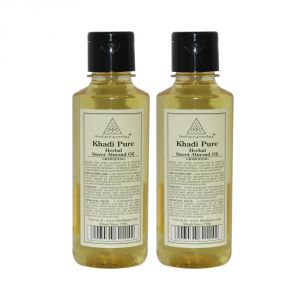 Khadi Pure Herbal Sweet Almond Oil - 210ml (set Of 2)