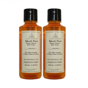 Globus,Diesel,Khadi,Gucci,Brut,Calvin Klein,Dove Personal Care & Beauty - Khadi Pure Herbal Thyme Henna Hair Tonic - 210ml (Set of 2)