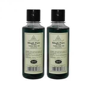 Khadi Pure Herbal Triphala Hair Oil - 210ml (set Of 2)