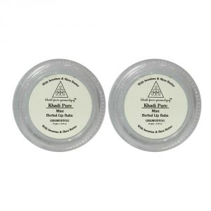 Khadi Pure Herbal Mint Lip Balm - 10g (set Of 2)