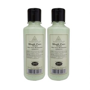Khadi Pure Herbal Aloevera Moisturizer - 210ml (set Of 2)