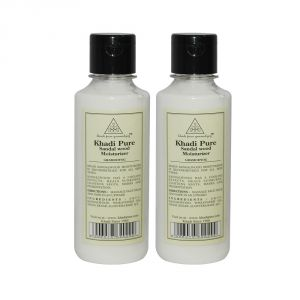 Globus,Diesel,Khadi,Nyx,Nike Skin Care - Khadi Pure Herbal Sandalwood Moisturizer - 210ml (Set of 2)