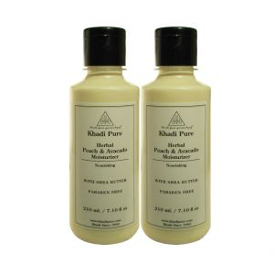 Khadi Pure Herbal Peach & Avacado Moisturizer With Sheabutter Paraben Free - 210ml (set Of 2)