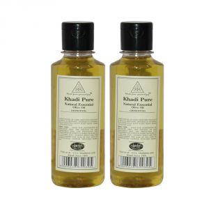 Khadi Pure Herbal Natural Essential Olive Oil - 210ml (set Of 2)