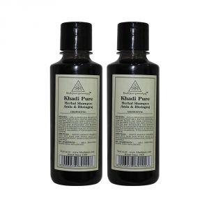 Khadi Pure Herbal Amla & Bhringraj Shampoo - 210ml (Set Of 2)