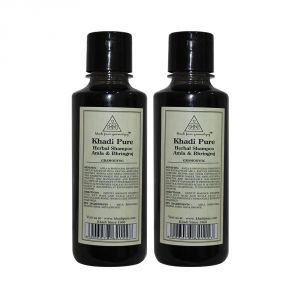 Khadi Pure Herbal Amla & Bhringraj Shampoo - 210ml (set Of 2)