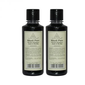 Khadi Pure Herbal Amla & Reetha Shampoo - 210ml (Set Of 2)