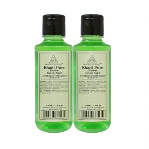 Khadi Pure Herbal Green Apple Shampoo Conditioner - 210ml (set Of 2)