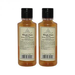 Khadi Pure Herbal Henna & Tulsi With Extra Conditioning Shampoo - 210ml (Set Of 2)
