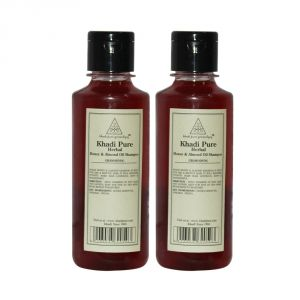Khadi Pure Herbal Honey & Almond Oil Shampoo - 210ml (set Of 2)