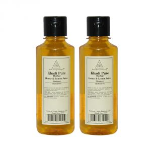Khadi Pure Herbal Honey & Lemon Juice Shampoo - 210ml (set Of 2)