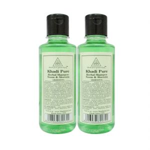 Nike,Jovan,Adidas,Nova,Khadi Hair Care - Khadi Pure Herbal Neem & Aloevera Shampoo - 210ml (Set of 2)