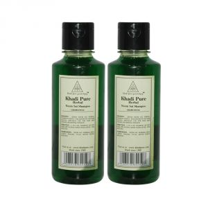 Khadi Pure Herbal Neem Sat Shampoo - 210ml (set Of 2)