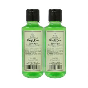 Khadi Pure Herbal Green Apple Shampoo Conditioner Sls-paraben Free - 210ml (set Of 2)