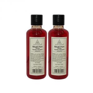 Khadi Pure Herbal Satritha Shampoo SLS-Paraben Free - 210ml (Set Of 2)