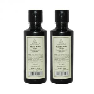 Khadi Pure Herbal Shikakai Shampoo SLS-Paraben Free - 210ml (Set Of 2)