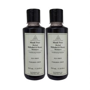 Khadi Pure Herbal Shikakai & Honey Shampoo Sls-paraben Free - 210ml (set Of 2)