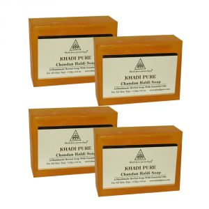 Khadi Pure Herbal Chandan Haldi Soap - 125g (set Of 4)