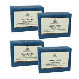 Khadi Pure Herbal Mint Soap - 125g (set Of 4)