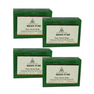 Khadi Pure Herbal Pure Neem Soap - 125g (set Of 4)